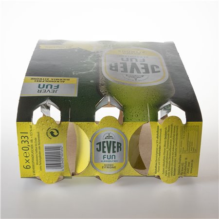 Flaschen-Sixpack (Fun Zitrone - 01)