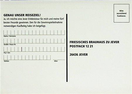 Teilnahmekarte (Genau unser Reiseziel)