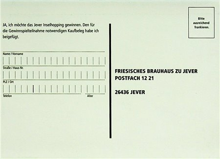 Teilnahmekarte (JeverInselhopping)