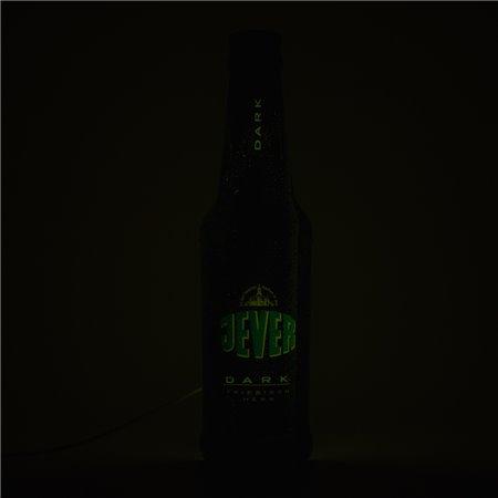 Leuchtreklame (Dark-Flasche 3D)